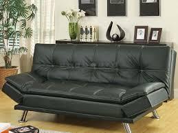 coaster 300281 modern black adjustable sofa bed futon