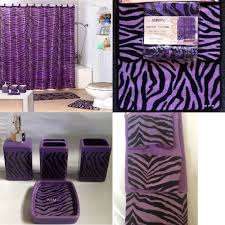 Zebra Shower Curtain by 22pc Bath Accessories Set Purple Zebra Animal Print Bathroom Rugs