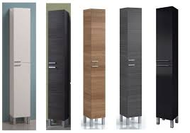 Bathroom Cabinet Storage by Koncept Tall Narrow Bathroom Cupboard Storage Cabinet Soft Gloss
