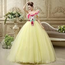 quinceanera damas dresses hot sale quinceanera dresses princess sweet yellow one shoulder
