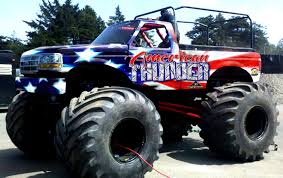 monster truck bigfoot video american thunder motorsports monster truck ride truck manly