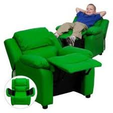 Youth Recliner Chairs Kids Children Toddlers Upholstered Vinyl Recliner Chair With Cup
