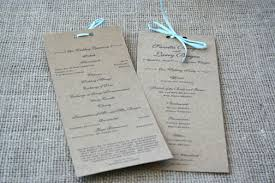 kraft paper wedding programs rustic recycled wedding programs sofia invitations