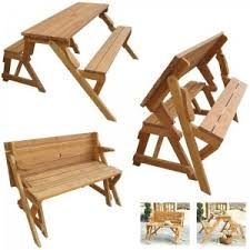 perfect folding picnic table and bench fresh in backyard style