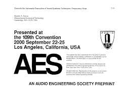 aes e library towards the automatic generation of sound