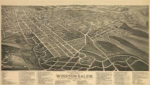 Bird View Map Winston Salem North Carolina 1891