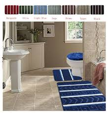 Bathroom Contour Rugs 3pc Bath Rugs Mats Bathroom Accessory Set Bath Mat Contour Rug