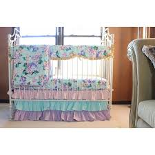 Pink And Aqua Crib Bedding Cordelia S Baby Bedding Floral Pastel Pink Blue Lavender