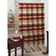 Fabric Shower Curtains With Matching Window Curtains Madison Stripe Complete Bath Collection