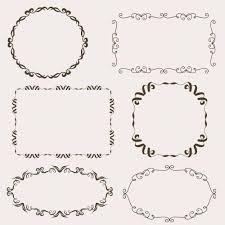 vintage vector set of ornamental frames photoshop vectors
