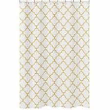 White And Gold Curtains Sweet Jojo Designs White And Gold Trellis Bedding Collection Bedding