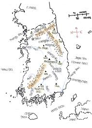Map Of South Korea Ljhsmchang Licensed For Non Commercial Use Only Physical Map
