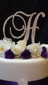 h cake topper letter h swarovski monogram cake topper wedding cake