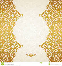 vector seamless border in victorian style stock photo image