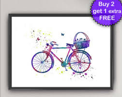 bicycle painting etsy