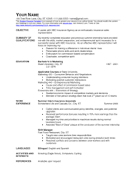 Insurance Resume Resume For Assistant Restaurant Manager Resume For Your Job