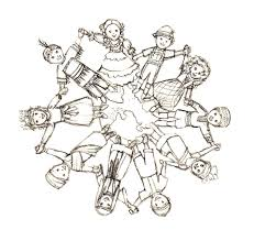 coloring children of the world coloring page children