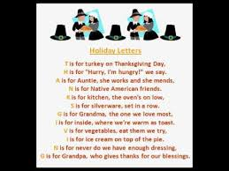 letters thanksgiving poems