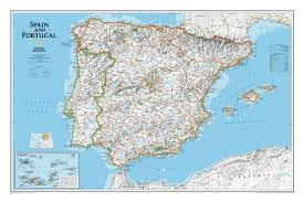 Portugal And Spain Map by Spain Portugal Wall Map Westeurope Countries Europe Wall Maps