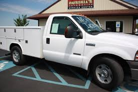 Ford F350 Truck Gas Mileage - 2005 ford f 350 utility truck russell u0027s truck sales