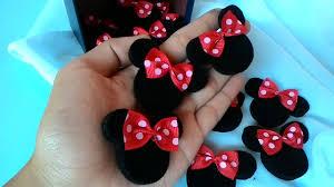 membuat kerajinan bros cara membuat bros minie mouse gulung dari kain flanel youtube