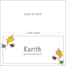 pretty placecards for a thanksgiving table
