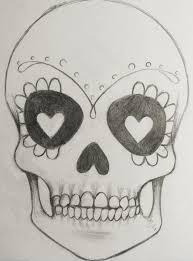 simple sugar skull designs simple sugar skull tattoo design