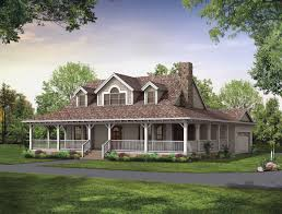 wall tile of ranch home designs with porches and wooden pillars on