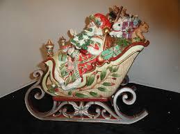 fitz floyd enchanted centerpiece santa sleigh tureen