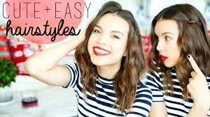 easy party hairstyles for medium length hair 3 cute u0026 easy hairstyles for medium hair youtube