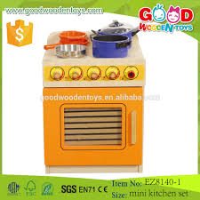 modern kitchen toy 2017 modern orange mini stove wooden kids kitchen toy pretend play