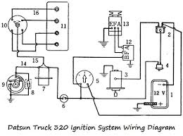 datsun truck 320 ignition system wiring diagram