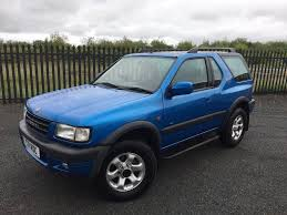 opel frontera 4x4 1999 t vauxhall frontera 2 2 dti sport rs diesel 3 door 4x4