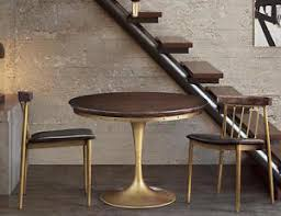 Anthropologie Dining Chairs Mid Century Modern Brass Tulip Dining Table Chairs