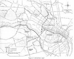 Map Of Richmond Va Richmond Interstates And Expressways