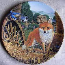 Fox In The Barn Davenport Ltd Ed Plate Cries Of London The Knife Grinder Box