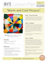warm and cool picasso free lesson plan download the art of ed