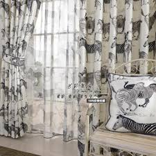 Black And White Bedroom Drapes Zebra Bedroom Curtains