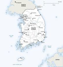 vector map of south korea political south korea korea and asia