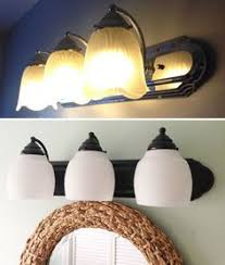 Update Bathroom Lighting How To Paint Brass Light Fixtures U2013 And Update Any Room So Easy A