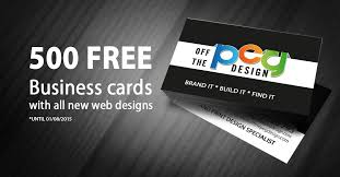 500 Business Cards Free Business Cards With Your Website Design Affordable Web