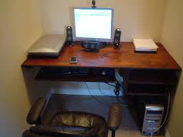 Computer Desk Work Station Floating Computer Desk Workstation With Hidden Printer Area And In