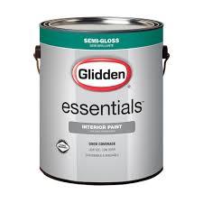 glidden essentials 1 gal white semi gloss interior paint gle 3000