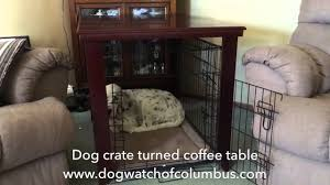 dog crate turned coffee table youtube