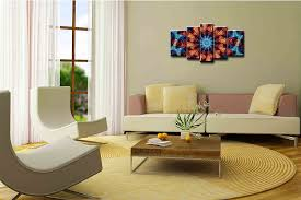 art wall art paintings 5 pieces decor art of abstract fractals