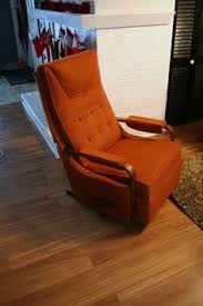 vintage lazy boy la z boy rocker recliner burnt orange color