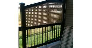 Deck Handrail Adding A Lattice Privacy Screen To Existing Deck Railing