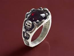 ring of men garnet witch king of angmar sterling ring