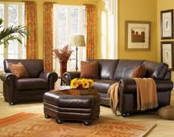Appealing Living Room Leather Furniture Sets Using Wooden Tray - Furniture nearby