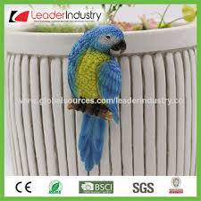 china polyresin garden ornament owl figurine for flowers pot hangers